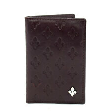 Patrick Cox Mens Leather ID Cards Wallet Holder Burgundy