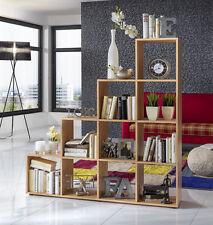 Wilmes: Treppenregal mit 10 Fächer - Raumteiler Bücherregal Stufenregal - Buche