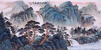 100% ORIGINAL ASIAN FINE ART CHINESE SANSUI WATERCOLOR PAINTING-Mountains&Trees