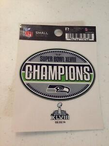 Seattle Seahawks NFL Static Cling Decal Sticker Super Bowl XLVlll Champions Car
