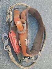 Vintage Klein Buhrke Climbers Safety Belt 1970s Model 5447 Serial# 169253