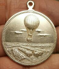 1894 BALLOON FLIGHT at DRESDEN with LIEUTENANT LEMBRIERE SILVER MEDAL C665