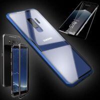 Para Samsung Galaxy S9 Plus Imán Cristal Funda Azul / Transparente 0,3 4D H9