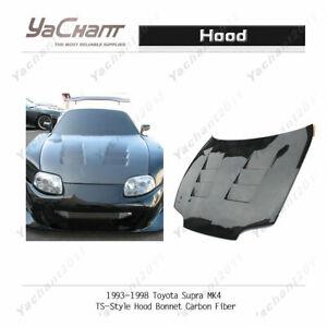 Carbon Fiber Glossy Bonnet Fit For 1993-1998 TOYOTA Supra MK4 TS-Style Hood