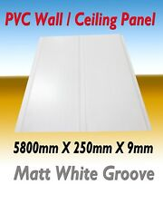 10 PIECES (PACK) PVC CEILING / WALL PANEL  MATT WHITE GROOVE  DESIGN 5800MM