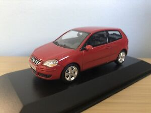 Minichamps 1:43 VW Volkswagen Polo GT Mk4 (9N) 2005 Sunset Red Promotional Rare