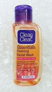 50ml. Clean And Clear Essentials Foaming Facial Wash Oil Free Wont Clog Pores