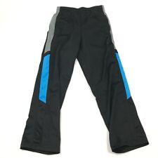 Starter Pants Youth Size Large 10 -12 Black Blue Track Pant Athletic Leisure Kid