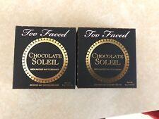 2 - Too Faced Chocolate Soleil Medium/Deep Matte Bronzer 4g / 0.14oz With Box