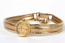 A ladies 9ct gold vintage wind mechanism Omega bracelet watch, circa 1960