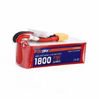 14.8V 4S 1800mAh 75C LiPO Battery XT60 plug for 150-280 RC Racing FPV Drone
