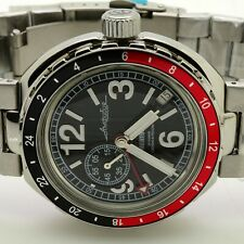 RUSSIAN  VOSTOK AMPHIBIA 960762 NEPTUN MILITARY AUTO WRIST WATCH NEW