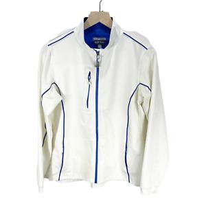 Peter Millar Element Wind White Full Zip Activewear Jacket Womens Sz M