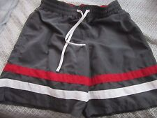 4e84c9ea0d Men's swim trunks size M (32/34) gray with red/white trim