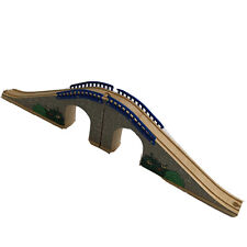 Wooden Blue Brick Bridge Train Set Track Brio Thomas the Tank Engine Compatible