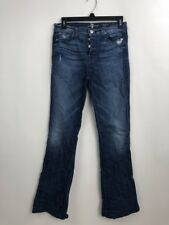 7 for all Mankind Women Jeans Cotton Stretch High Waist Vintage Bootcut Size 27
