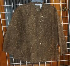 SIZE XL J H COLLECTIBLES BROWN SEE THRU BLOUSE WITH SEQUIN