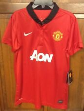 Nike Manchester United MUFC Home Jersey Red 2013 2014 Women M NWT New 532883 624