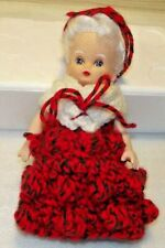 Hand Crafted & Crochet Vintage Tree Topper Mrs Claus / Grandma - Very Cute Nice