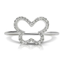 Petite Butterfly Outline Diamond Ring