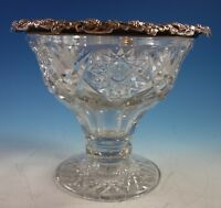 Wilcox Co. Cut Glass Punch Bowl with Sterling Silver Grapes (#2159)