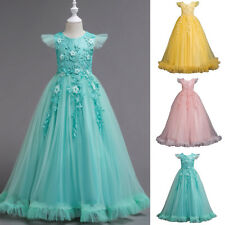 Flower Girl Princess Dress Kids Pageant Party Wedding Birthday Gown Tutu Dresses