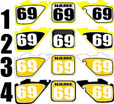 Number Plate Graphic for 1999-2000 Suzuki RM125 250 RM 125 250 Side Panels Decal