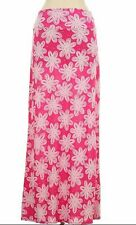 PINK FLOWER PRINT MAXI BOUTIQUE SKIRT IN LARGE-OTHER-OTHER SIZES AVAILABLE
