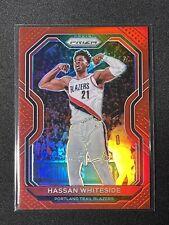 2020-21 Panini Prizm Hassan Whiteside /299 TRUE RED PRIZM #158 SP Trail Blazers