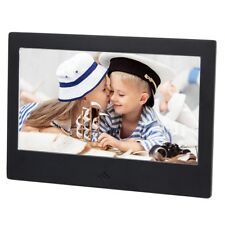 "2018 New Digital LCD Photo Black Metal Frame LED Picture Video Player 7""+Remote"