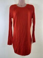 RIVER ISLAND red long sleeve knit mini jumper dress size 12