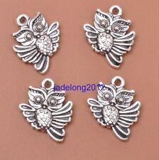 10pcs Tibetan Silver Jewelry Owl Charms Pendants 18x15mm Jewelry Findings J3048