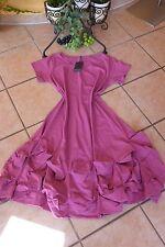 BORIS INDUSTRIES Ballon Kleid Volant 48 50 (5) NEU pink A-Form Baumw. LAGENLOOK