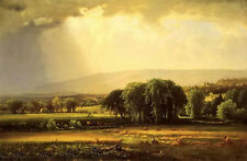 Oil painting george inness - harvest scene in the delaware valley free shipping