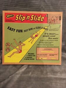 Original WHAM-O Slip N Slide Retro Vintage Type Box 16' Water Toy Kids Party NIB