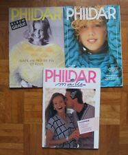 LOT de 3 catalogues tricot PHILDAR n° 126 - 143 et 173/De 1985 à 1988