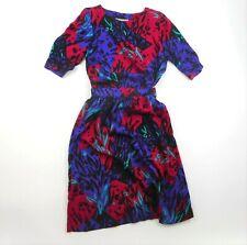Vintage 1980's Top & Skirt Set Separates Print 100% Rayon Size S Petite