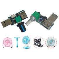 USB Fan Stepless Speed Controller Regulator Speed Variable Switch Module 5V-12V