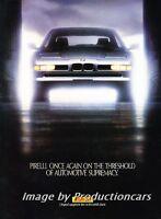 1990 1991 BMW 850i Pirelli Tire - Classic Vintage Advertisement Ad H11