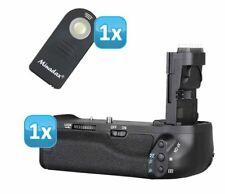 Profi Batteriegriff für Canon EOS 70D ersetzt BG-E14 + 1x Infrarot Fernbedienung