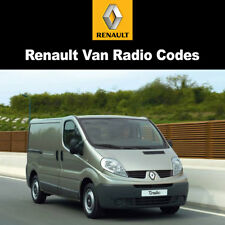 Renault Van Radio Codes Decode Car PIN Unlock Fast Service Radio Code UK
