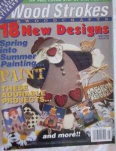 Wood Strokes & Woodcrafts Magazine Patterns Paint Projects Issue 28 May 1998