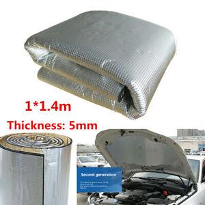 5mm Car Engine Heat Mat Sound-Absorbing Pad Shield Noise Insulation Hood 1*1.4m
