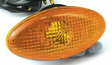 PAIR OF SMALL SLIM OVAL FAIRING INDICATORS WITH AMBER LENS