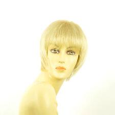 Perruque femme courte blond doré méché blond très clair  CANDICE 24BT613
