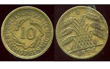 ALLEMAGNE 10 reichspfennig 1924 D