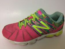 New Balance Girls 3 Youth Neon Pink Green Lace Up Sneakers Shoes KJ890SFP Floral