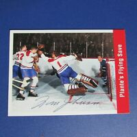 TOM JOHNSON  1994 Parkhurst # 163 SIGNED AUTO  Jacques Plante Montreal Canadiens