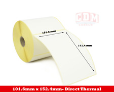 "10,000 - 101.6 x 152.4mm (4x6"") Direct Thermal - Citizen CLP 631 Printer Labels"