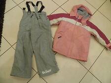2 Tlg. Mädchen Skianzug Schneeanzug Gr. 122 Scout rosa/ grau